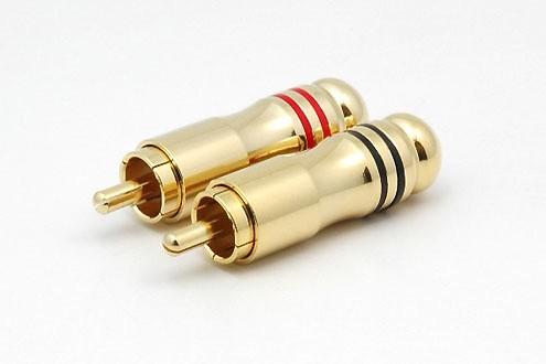 2xCinchstecker CS-307 bis 6 mm Kabel
