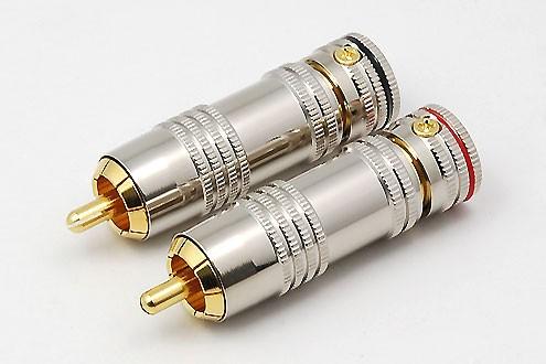 2xCinchstecker CS-1035 bis 9,1mm Kabel