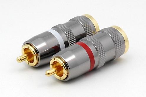 2xCinchstecker CS-1108 bis 12 mm Kabel
