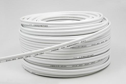 Lautsprecherkabel LS-2,5 white - Meterware