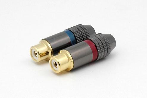 1x Cinchbuchse CS-320 bis 6 mm Kabel ohne Markierung