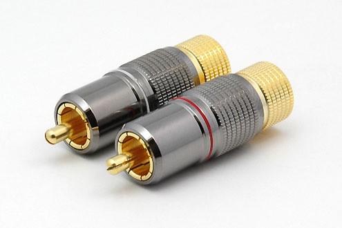 2xCinchstecker CS-1018 bis 8 mm Kabel