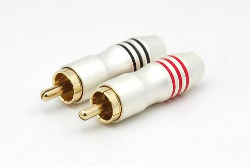 2xCinchstecker CS-329 bis 6 mm Kabel