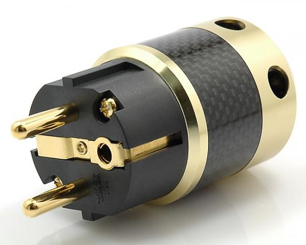 Schutzkontaktstecker SK-01 CG (vergoldet)