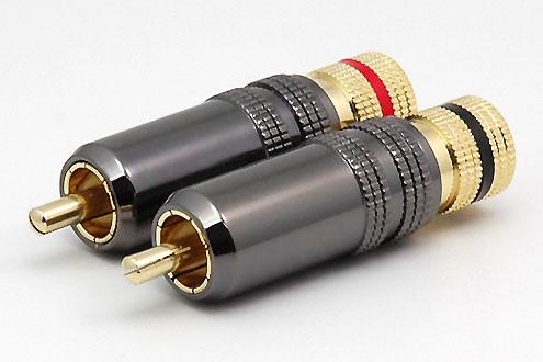 2xCinchstecker CS-1032 bis 8 mm Kabel