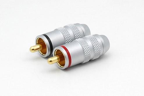 2xCinchstecker CS-115 bis 6 mm Kabel