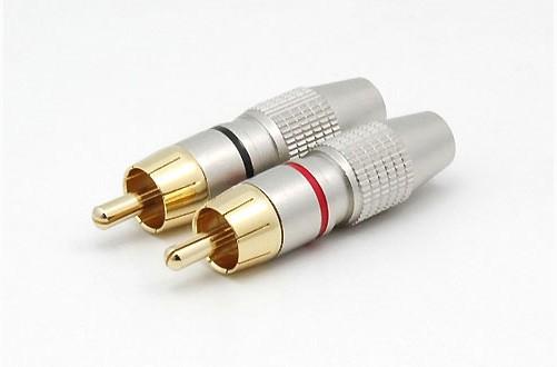 2xCinchstecker CS-606 bis 6 mm Kabel